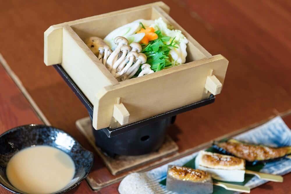 vegetarian course steamed vegetables