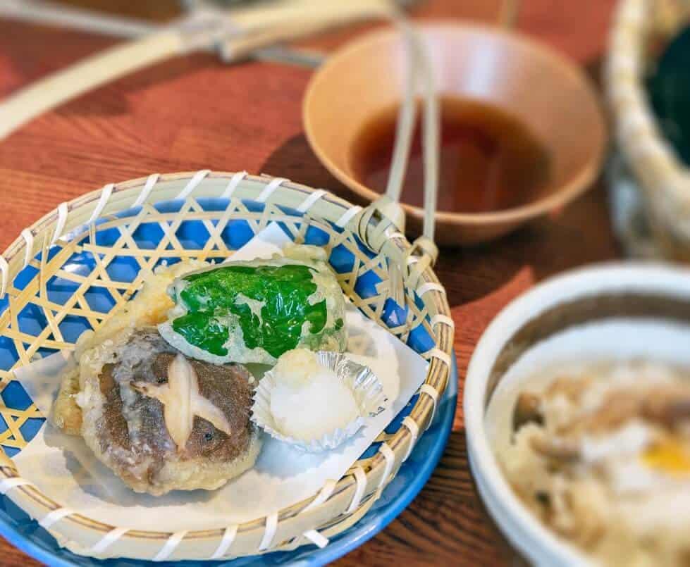 vegetarian course tempura