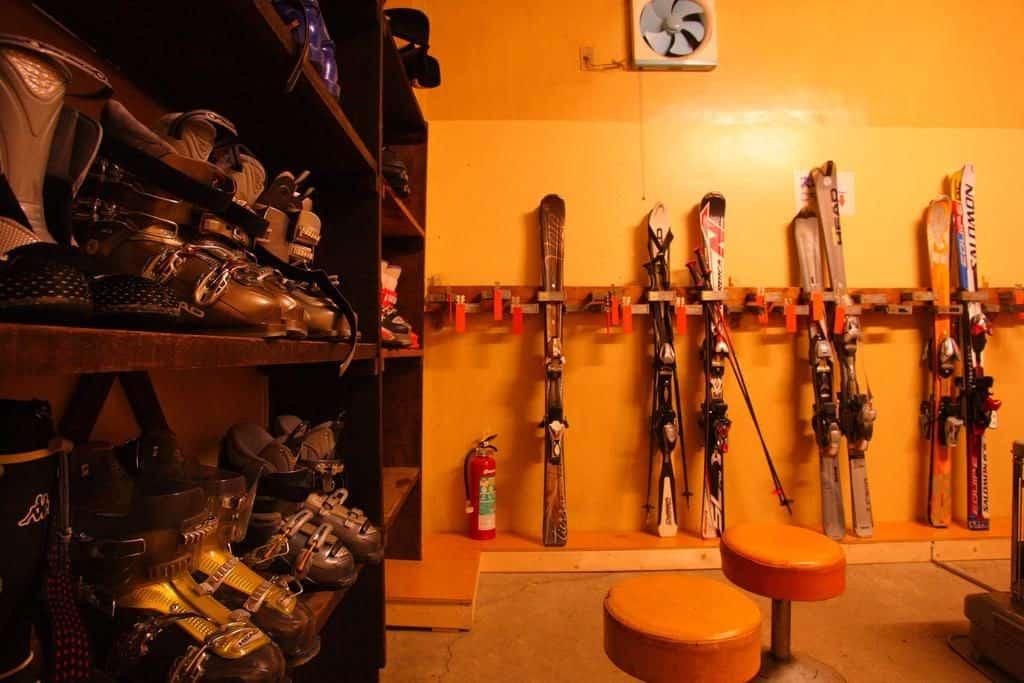 Hotel MOC ski room