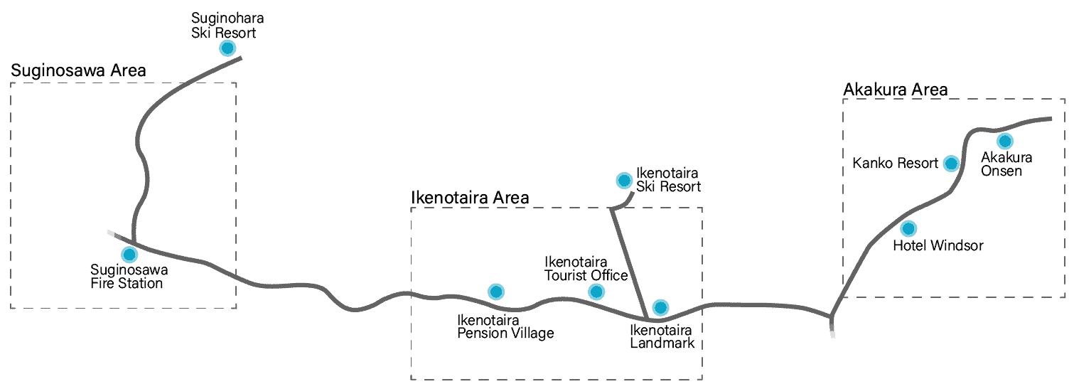 Mt Myoko Shuttle Map